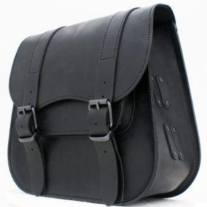 Sacoche Cuir Noire Grande capacité 18 litres custom