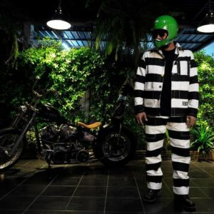 veste prisonnier biker harley davidson