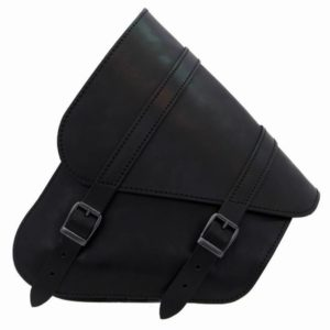 Sacoche Latérale Cuir Noir Softail /Swingarm Bag Softail Black Leather