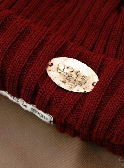 bonnet-marine-laine-rouge