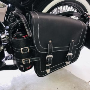 Sacoche Cuir Porte Bouteille «Hold Fast»