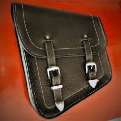 """Full grain Leather """"Hold Fast"""" framebag HD Softail"""