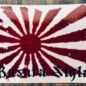 drapeau japon vintage