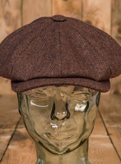 casquette-vintage-pure- laine-newsboys-1928-chevrons-school-of-cool-devant