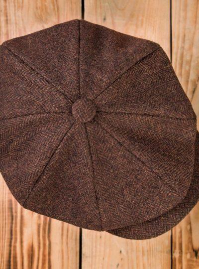 casquette-vintage-pure- laine-newsboys-1928-chevrons-school-of-cool-dessus