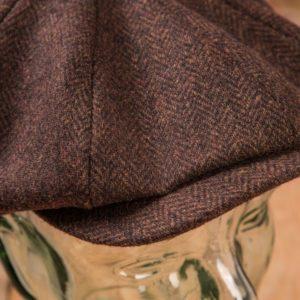 casquette-vintage-pure- laine-newsboys-1928-chevrons-school-of-cool-detail