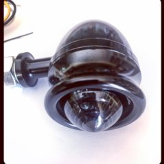 Motorcyle Black turn signals EDGE CUT smoked lens