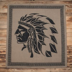 Couverture-mexicaine-moto-1969-Chief-Blanket-black-pike-brothers-harley-davidson