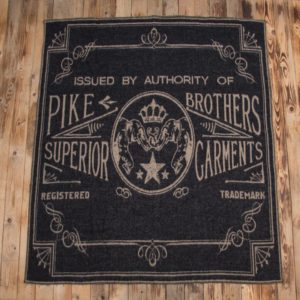 Pike-Brothers-couverture-chaude-mexicaine-laine-moto-faded-black-harley