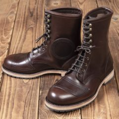 bottes-cuir-moto-1966-Explorer Boots-marron-pike-brothers