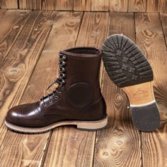 bottes-cuir-moto-1966-Explorer-Boots-marron-pike-brothers-couture-cuir