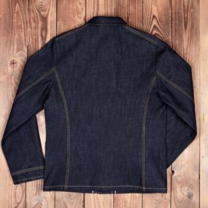 1936 Chopper Jacket 16oz indigo -Pike-Brothers-denim-veste -back