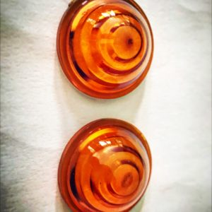 Cabochon orange vintage