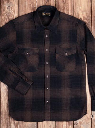 Chemise-Marin-coton-Pike-Brother-Kansas-brown-devant