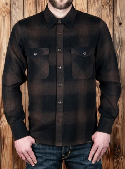 Chemise-Marin-coton-Pike-Brother-Kansas brown-face