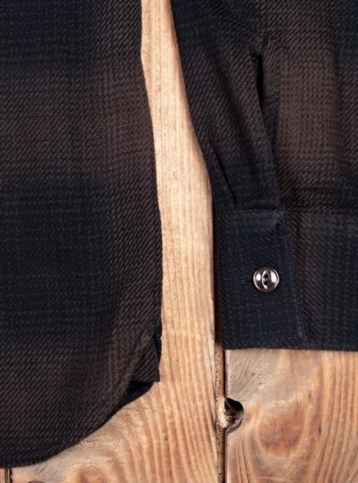 Chemise-Marin-coton-Pike-Brother-Kansas-brown-manche-details