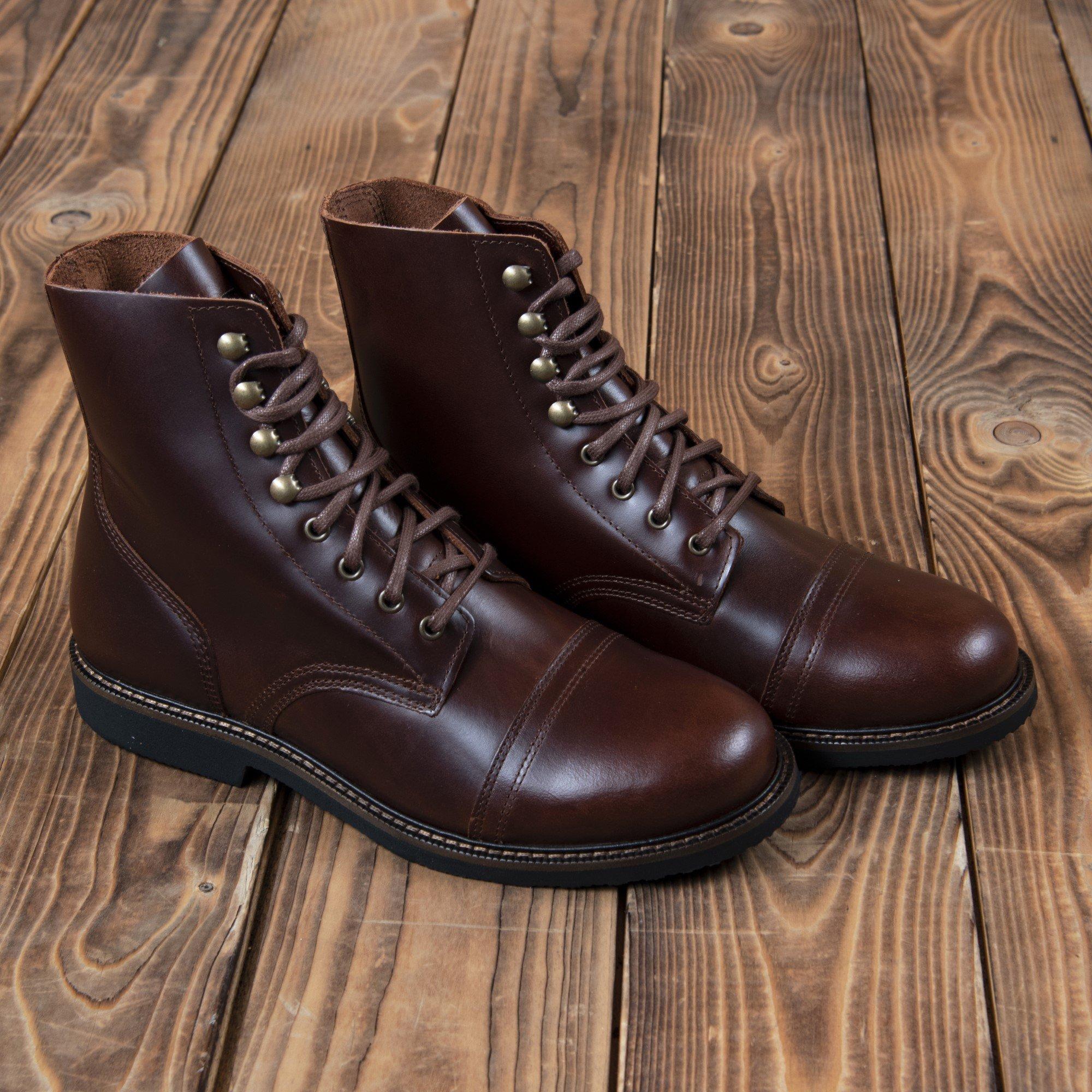 Leather boots 1966 low quarters cognac