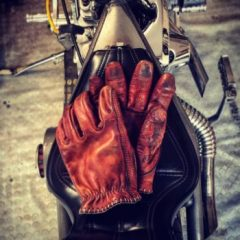 """Gants cuir """"RED BLOODY"""" 1936 Hold Fast"""