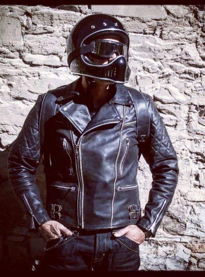 blouson-cuir-moto-matelassé