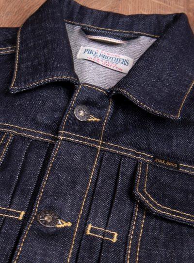 Veste-blouson-1958- Roamer-Jacket 15oz-indigo-Pike-Brothers -detail-col